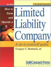 How to Form and Operate a Limited Liability Company: A Do-It-Yourself -ExLibrary