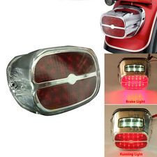 Rear Tail Brake License Light Chrome Lamp LED For Harley Softail Dyna Sportster