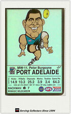 2009 AFL Teamcoach Trading Card Magic Wild Card MW11 Peter Burgoyne (Port Adel.)