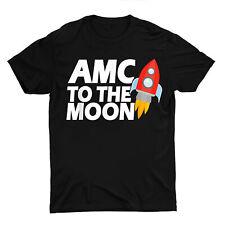 AMC To The Moon Rocket Stock Investor Unisex T Shirt S-5XL Black