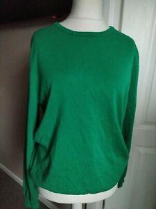 Men's Woolovers Jumper Green Extra Fine Merino Wool/ Cashmere Blend Size XL