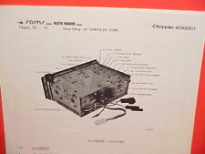 1978 CHRYSLER DODGE PLYMOUTH AM-FM SEARCH TUNE RADIO SERVICE MANUAL 4048001
