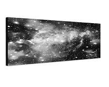 150x50cm Panoramabild Schwarz Weiss - Galaxie Sterne  deep space Milchstraße