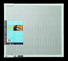 """EXPANDABLE WINDOW SCREEN White Adjustable Aluminum Frame 18"""" H x 20"""" to 37"""" W"""