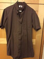 Vintage Friar Tuck Mid Century Brown Men's Clergy Button Front Shirt 14 1/2, M
