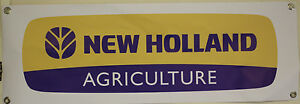 new holland tractor 1 large pvc WORK SHOP BANNER garage man cave show banner
