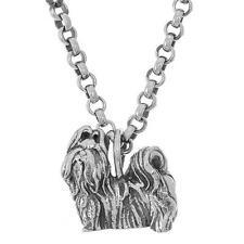 925 Sterling Silver Shih Tzu Dog Pendant / Charm