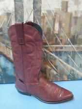 Capezio Mens Brown Leather Cowboy Western Boots USA Made 8 M