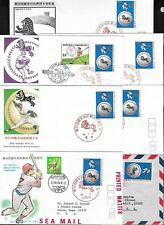 7 x Japan 1979 Baseball FDC's, First Day Covers and Covers