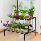 3Tier Stepped Flower Shelf Holder Staircase Plant Stand Wide Ladder Display Rack