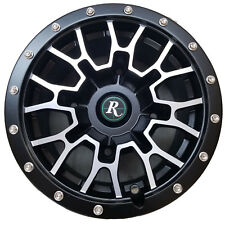 RIM WHEEL for some Polaris Kawasaki ATV 12x7 4/156 4+3 Remington RTC Blk-Mach