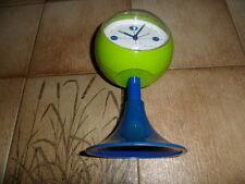 Uhr Clock Blessing Wecker Alarm Uhr Tulpenfuss gruen blau mit fehlern Sammlerstu