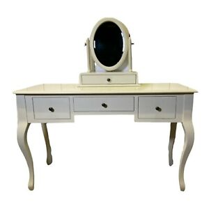 Laura Ashley White Dressing Table With Free Standing Mirror And Drawer