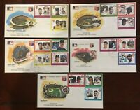 Lot of 5 Different 1988 Grenada Official First Day Cover Envelopes
