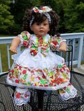 "PAT SECRIST BABY GIRL DOLL 21"" V-T 1991 BROWN HAIR AND BROWN EYES"