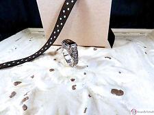 SARA BLAINE Smoky Quartz Petite Bali Scroll Sterling Silver Ring ~ Size 7