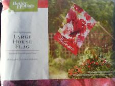 """New listing Closeout Large Garden Flag - Pink Hydrangeas - 28 in X 40 in """"Welcome"""""""