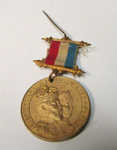 Original King Edward VII & Queen Alexandra Commemorative Medal ~ June 20, 1902