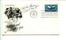Yale Lary Detroit Lions 3x NFL Champ HOF Texas A&M Aggies Signed Autograph FDC