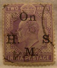 India Stamp 1902 Scott O40 A35  Overprint Two Annas
