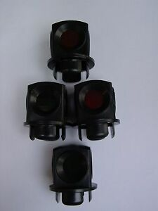 LIONEL 711-54 (Lens) Lanterns Post War style for 022 switches 4 total Free Ship