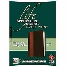 NLT Life Application Study Bible  (Leatherlike, Large Print, Brown / Tan Tutone)