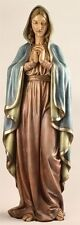 27017 Madonna Blessed Mother Mary Indoor Statue Painted Resin Stone 37 1/2 in