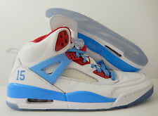 NIKE AIR JORDAN SPIZIKE iD WHITE-BABY BLUE-RED SZ 10.5 [605241-993]