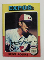 1975 Steve Rogers # 173 Topps Baseball Card Montreal Expos