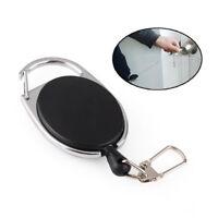 Portable Badge Reel Heavy Duty Retractable Recoil Ski Pass Card Holder Key Chain