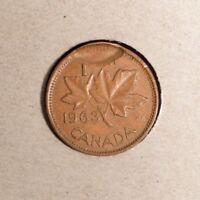 1963 Canada Small Cent - Broadstrike error - INV # G-37