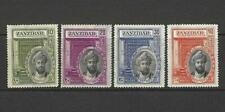 ZANZIBAR 1936 SILVER JUBILEE OF THE SULTAN SET- SG 323 -326 - GOOD MOUNTED MINT