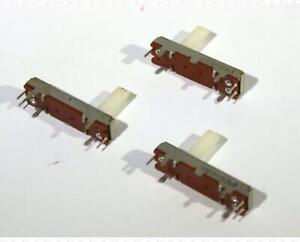 KNEB 50000 Ohm 1 Inch Slide Pot Potentiometer KNEB50K~CJ Lot Of 3