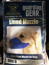 "*New* Guardian Gear Lined Dog Muzzle*Size 0 fits 4 1/2""Snouts-Min.Poodl es,Yorkie"
