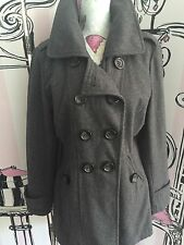 Women's No Pattern Casual Double Breasted Wool Blend Coats & Jackets