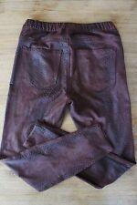 Mango Denim & Tees * tregging * figurnah * 7/8 * piel de serpiente * color marrón-rojizo * talla s