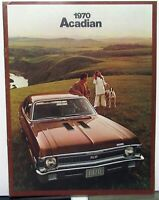 1970 GM Of Canada Dealer Sales Brochure Acadian English Text Large Rare