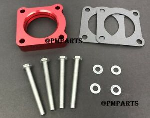 Red Throttle Body Spacer for 91-99 Mitsubishi 3000GT 3.0L 6G72 / 00-04 Eclipse