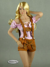 1/6 Scale Phicen, FG Female Stripes Blouse & Brown Shorts Lederhosen Uniform Set