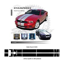 Ford Mustang 2010-2012 Ralley Stripes Graphic Kit - Matte Black