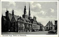 Hansestadt Lemgo s/w AK ~1940/50 Rathaus mit Nikolai Kirche Autos VW Käfer Cars