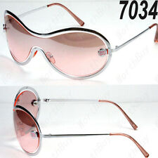 New DG Eyewear Shield Womens Designer Sunglasses Shades Fashion Pink Retro Metal