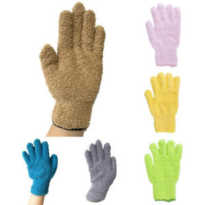 1 pc Microfiber Dusting Cleaning Glove Mitt Car Blinds Windows Dust Remover Tool