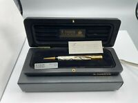 PARKER Duofold SE Pearl & Black Mechanical Pencil 0.9mm WOOD BOX NEW Year 1991
