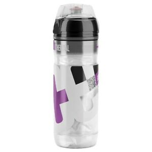 New Elite Iceberg Thermal Isolated Cycling Water Bottle, 500mL, Clear / Purple