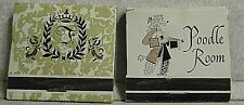 2 Vintage 1 Unstruck matchbooks Miami Florida Fontaine Bleau Hotel & Poodle Room