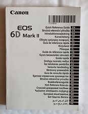 Canon 6D Mark II Quick Reference Guide Booklet