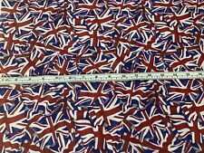 complet//1//2 MT tableau//toile cirée facile à nettoyer Fryetts PVC Vintage Union Jack Tissu