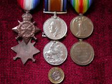Medals WW1 1914-15 Star, British War & Victory Medals AGED Trio  copy replicas