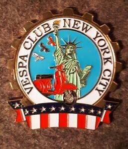 Vespa Plakette Faro Basso Rally Lampe unten , Vespa Club Nee York City, USA